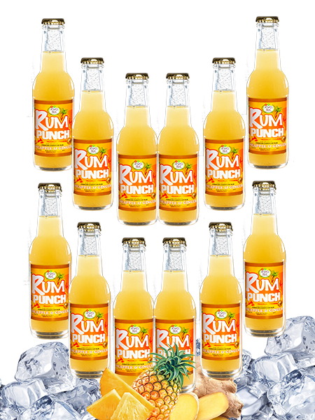 Jewel Isle Rum Punch Pineapple and Ginger 12-Pack 200ml