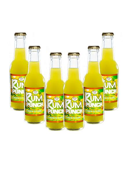 lemon and Lime 200ml Rum punch pack of 6